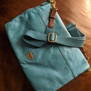 Fossil Turquoise Messenger Bag